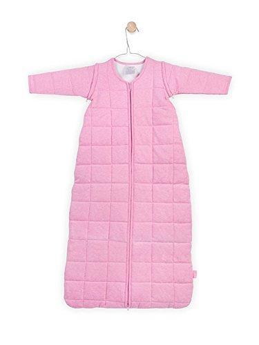 Jollein 016-542-00043 Schlafsack 4-Jahreszeiten mit abnehmbaren Ärmel, 110 cm, rosa melee