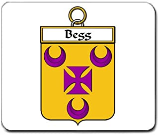 Begg Family Crest Coat of Arms Mouse Pad