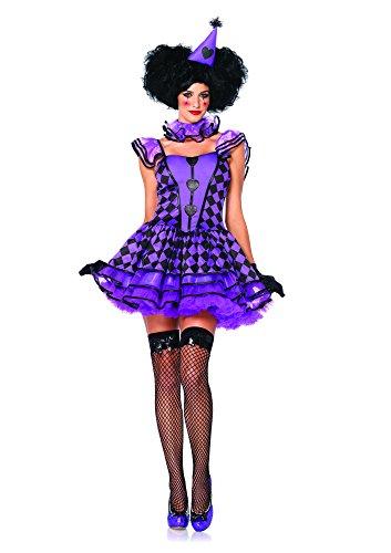 Leg Avenue Costume Jolie Clown Parisienne pour Femme Violet/Noir Taille M/L