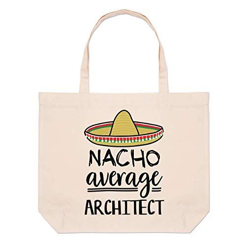 Nacho Durchschnitt Architekt Groß Strand Tragetasche