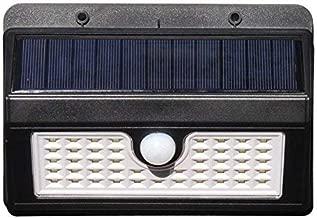 太阳能灯户外45LED 超亮运动传感器灯配广角照明可调节传感器照明时间防风雨于墙壁 driveway 庭院床花园 黑色