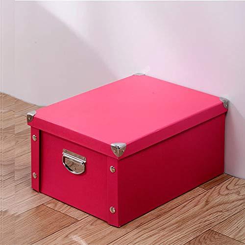 HOUXIAONI A4 Aufbewahrungsbox Mit Deckel Papierklapp Aufbewahrungsbox Buch Aufbewahrungsbox Kleidung Aufbewahrungsbox Kosmetische Bürobedarf Aufbewahrungskorb,Green-40 * 30 * 20cm