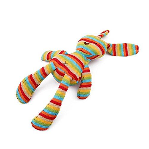TOYMYTOY Streifen lange Ohr Bunny Spielzeug Hase Schmusetier Plüsch Stofftier für Baby Kleinkind