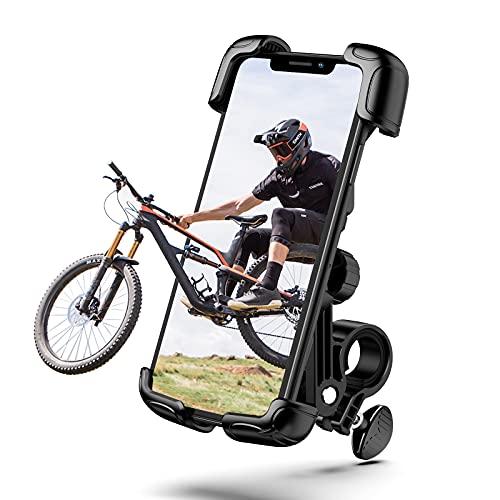 TRYONE バイク スマホ ホルダー 自転車 スマホ ホルダー スタンド オートバイ 片手操作 360°回転 GPSナビ携帯固定用 脱着簡単 振れ止め 脱落防止 自由調節 ロードバイク クロス バイク スマホ スタンド サイクリング バイク用 携帯ホルダー 4.7〜7.1インチに対応(iphone/Huawei/Xperia/Galaxy/SONY等多機種)