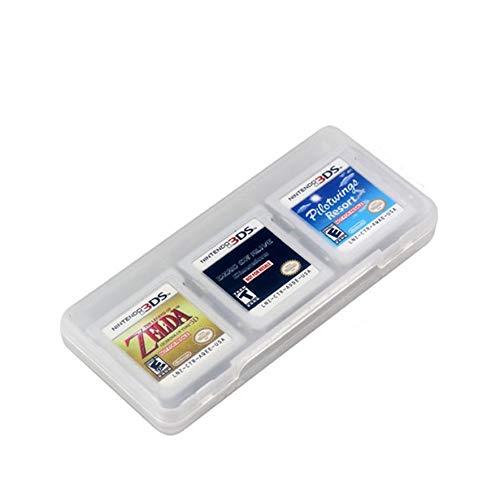 Rouku Soporte de Caja de Almacenamiento de plástico Duro 6 en 1 para Nintend DS 2DS Nuevas Tarjetas de Juego 3DS XL LL 3DSLL 3DSXL (Color: Multicolor)