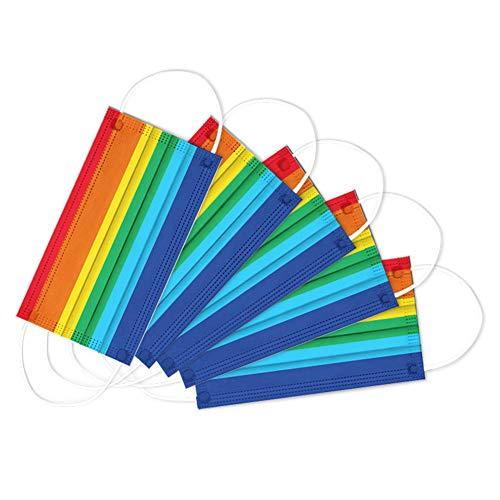 CAOLATOR 50 Stück Erwachsene Farbe Regenbogen