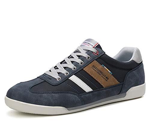 ARRIGO BELLO Zapatos Hombre Vestir Casual Zapatillas Deportivas Running Sneakers Corriendo Transpirable Tamaño 40-46 (42 EU, Azul Claro)