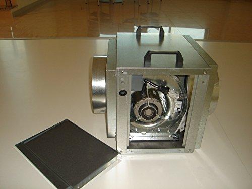 Extractor de aire portatil para uso industrial, ventilador centrífugo monofásico de gran presión, aspiración e impulsión con tubo autoextinguible 10 metros 254mm (1500 m3/h)