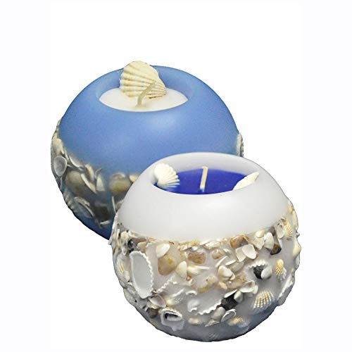 2 pcs Ocean themed decorative scented candle, sea shell candle, custom souvenirs, holiday decor