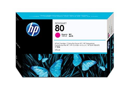 HP 80 Magenta 175-ml Genuine Ink Cartridge (C4874A) for DesignJet 1000 Series Large Format Printers