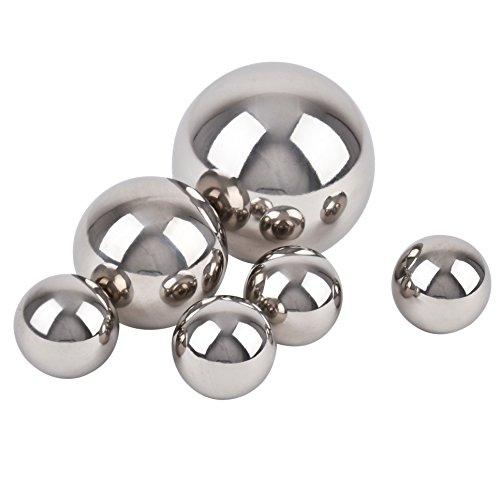 Dadeldo Living & Lifestyle Kugel Ball Deko 6er Set Edelstahl 4-6-8cm Silber poliert Gartendeko Objekt