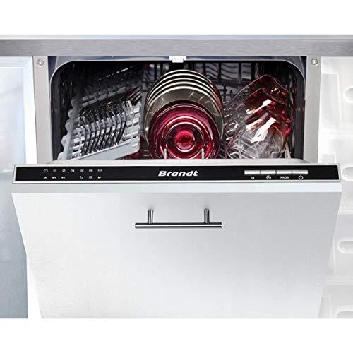 Lave vaisselle encastrable Brandt VS1010J - Lave vaisselle tout integrable 45 cm - Classe A++ / 47 decibels - 10 couverts