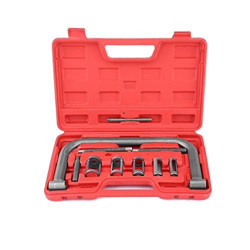 Gototop - Juego de 10 compresores de válvulas para atornillar y desatornillar, para motores de coche, furgoneta, moto, con estuche rojo