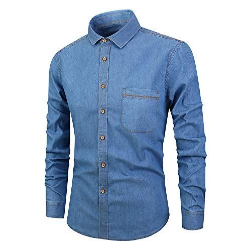 Herren Hemd Langarmhemden Basic Shirt Business Freizeit Hochzeit Slim Fit Classic Modern Casual Shirts Elegante Arbeit Männershirts Hochwertige Herren-Hemd XL