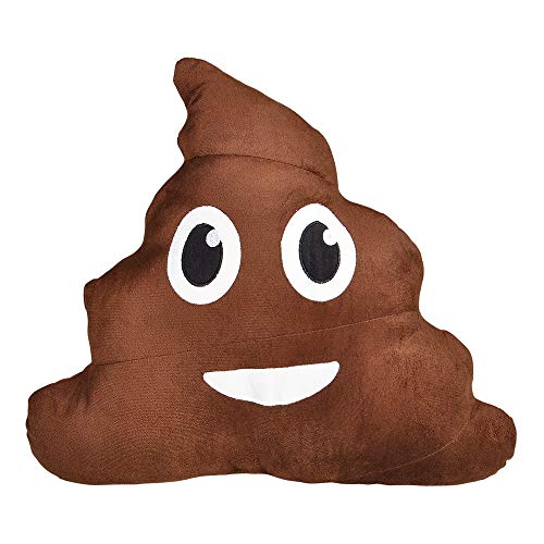 Rhode Island Novelty 18 Inch Emoticon Poop Pillow One Per Order