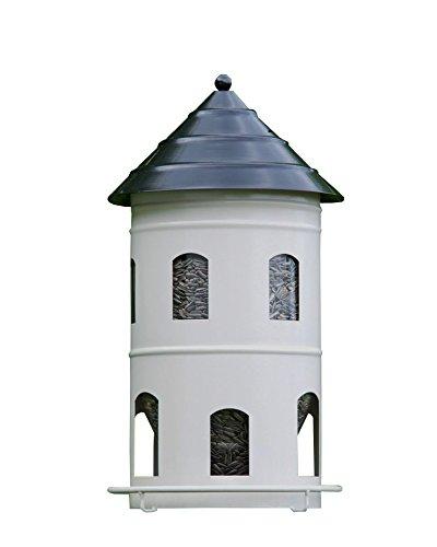 Wildlife Garden Vogelhaus GIGANT FUTTERSTATION Schweden Stil Futterhaus Futterturm weiß Multiholk