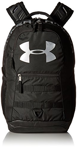 Under Armour Big Logo 5.0 Backpack, Black (001)/Silver, One Size Fits All