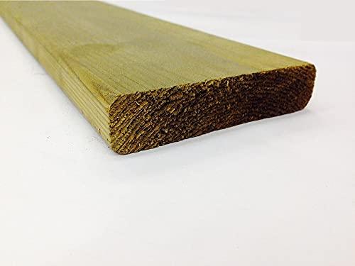 Tavole in massello di pino legno IMPREGNATE sez. cm.3,8x11,6 lungh. cm. 300 Pezzi:12