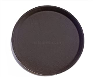 New Star Foodservice 24944 Non-Slip Tray, Plastic, Rubber Lined, Round, 11-Inch Dia, Brown