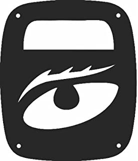 JeepTails Evil Eye - Jeep YJ Wrangler Tail Lamp Covers - Black - Set of 2