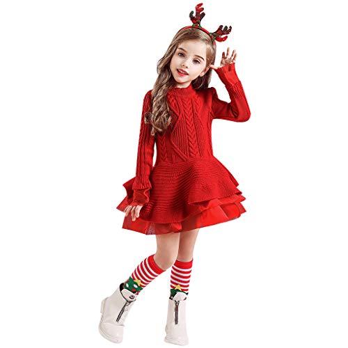 Yesmile Weihnachtskleid Kleinkind Baby Kinder Mädchen Weihnachten Feste warme Strickjacke...