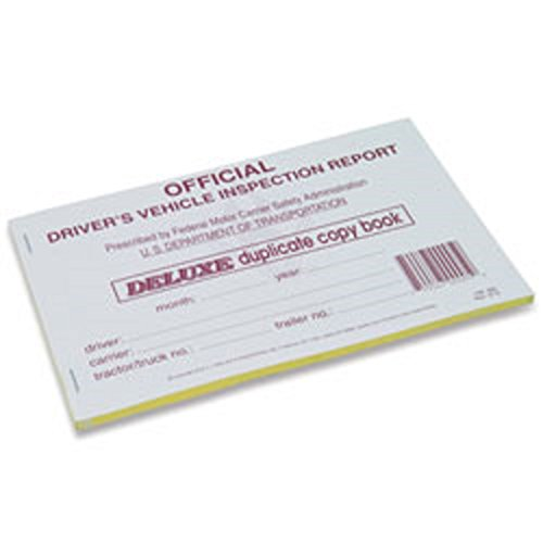 J.J. Keller - Detailed Driver's Vehicle Inspection Report, Duplicate, 25 Pack