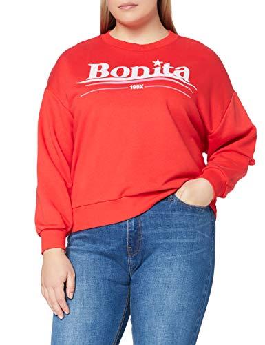 Marca Amazon - find. Sudadera Mujer, Rojo (Red), 38, Label: S