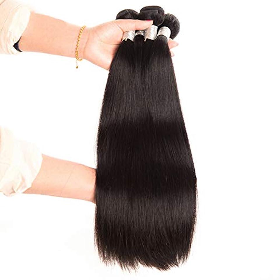 虐殺デンプシー先例100%のremyブラジルの人間の毛髪未処理の自然な髪を編むことができます二重よこ糸人間の髪織りエクステンションシルキーストレートヘア