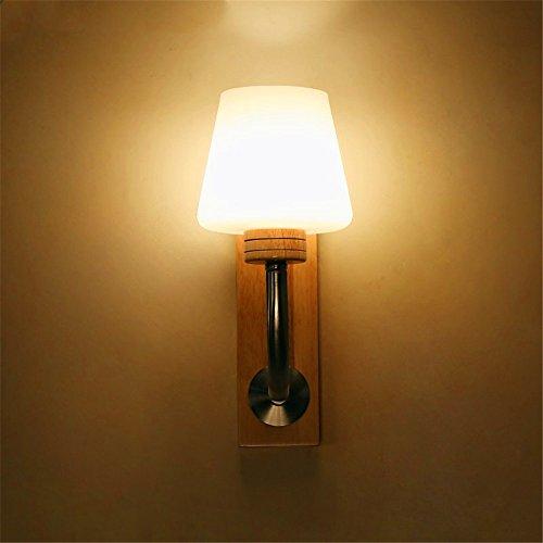WEXLX Appliques en bois créatifs lampe murale pour Chambre Salon Hauteur Largeur14CM36cm