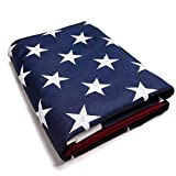 Gong Home - Polyester American Flag with Embroidered Stars, Outdoor