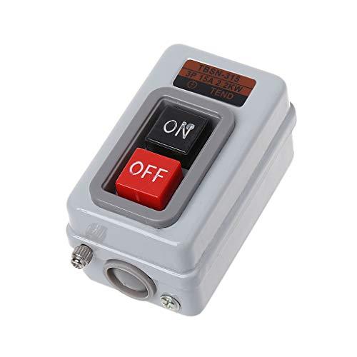 Fagu TBSN-315 AC 380V 15A 2.2KW ON/Off Interruptor de botón de Encendido con autobloqueo trifásico