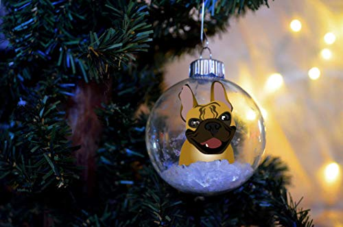 DONL9BAUER French Bulldog Christmas Floating Ornament Funny PET Bulb Dog Present Fre-nchie Memorial Fawn
