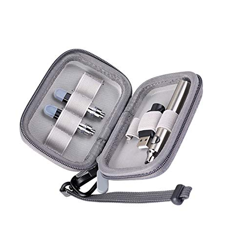 Small Travel case With Carabiner and Lanyard Travel Packing Organizers For Va-pe Battery Pen 5-1-0[Case Only]Hard Shell Holder Pouch Bag Charger Accessories Carrying Case