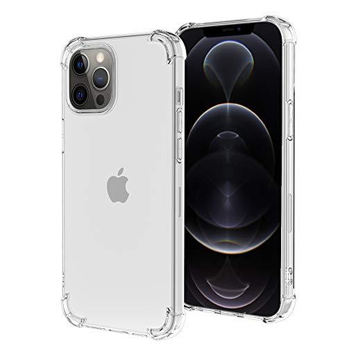 ROSAUI for iPhone 12 Pro/iPhone 12 Case Soft TPU Bumper Slim Shock Absorption Protective Case Gradient Transparent Phone Cover Anti-Scratch Case iPhone 12 Pro/iPhone 12 (Transparent)