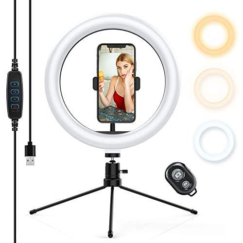 professionnel comparateur Anneau lumineux Anosa avec trépied amovible, anneau lumineux LED orientable avec télécommande… choix