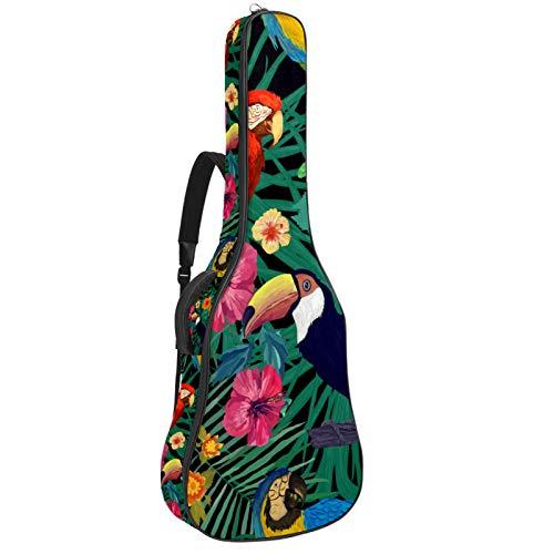 Funda de Guitarra Tucanes Loros Tropicales Bolso de guitarra 40 41 pulgadas...