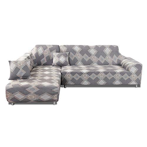 PETCUTE Fundas de sofá en Forma de L Protector de sofá elástico Funda de sofá Esquina 3 plazas Cubre Sofa con Chaise Longue