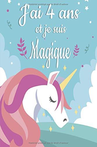 j'ai 4 ans et je suis magique: Carnet de notes original Papier à Rayures, Journal pour les filles, Carnet de notes fantaisie ligné à remplir de 120 ... d'anniversaire pour fille, cadeau fille 4 ans PDF Books