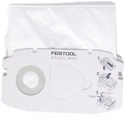 Festool 498410 Self Clean Filter Bag for CT MINI 5 pack, Model: 498410, Tools & Hardware store