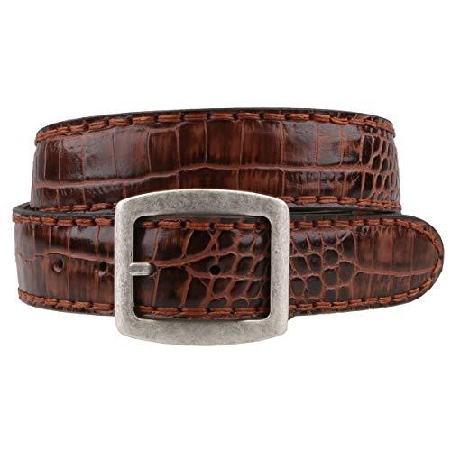 Sendra ceinture en cuir marron façon croco 879 - Marron - 100