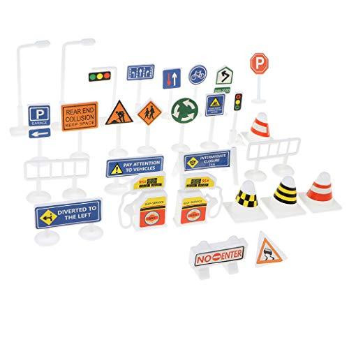 HomeDecTime Juguetes Educativos para Niños Señal de Seguridad de Calle de Estacionamiento de Tráfico Plástico