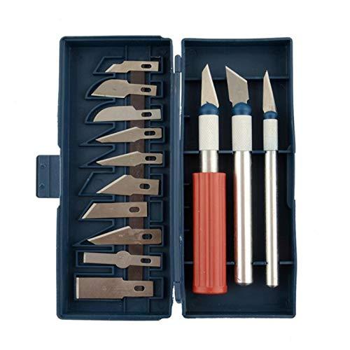 Artlalic Ensemble de 16 Couteaux Hobby avec Couteaux en Acier à Forte teneur en Carbone pour la Compression, idéal pour Les Arts et l'artisanat, y Compris Les Outils de Sculpture sur Papier