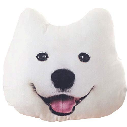 YWSZJ Spielzeug stofftiere 38x35 cm 3D Samoyed Husky plüsch Hund Puppe Kissen Dekoration kreative Geburtstagsgeschenk