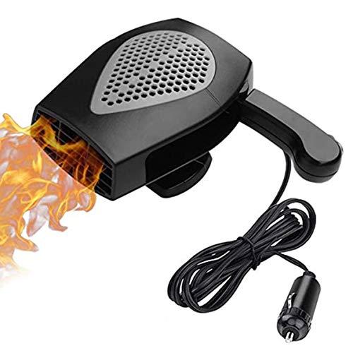Rendeyuan Calentador de Aire purificado para vehículos 12v Calentador de automóviles Desempañador y desempañador Gris Calentador automático electrónico portátil - Gris