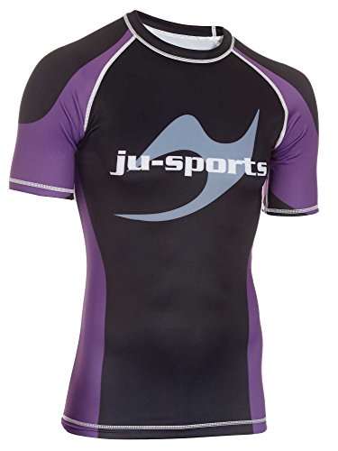 Ju-Sports Messieurs Rank Rashguard Pro Manches Courtes Violet Small Lilas