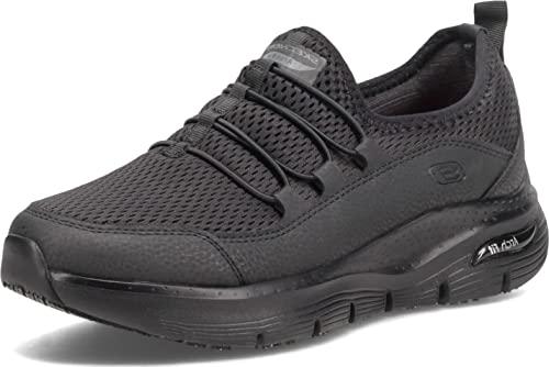 Skechers Women's, Arch Fit SR - Jitsy Work Shoe Black 9.5 M