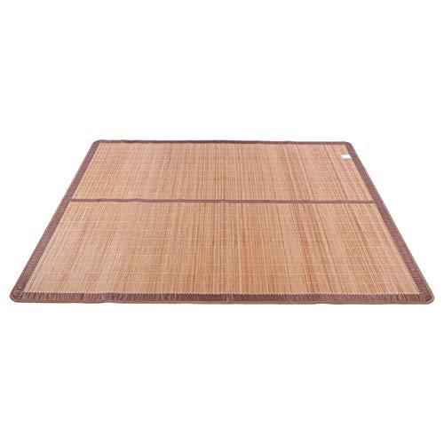 VINGVO Estera de bambú, Tratamiento de carbonización a Alta Temperatura Estera de Verano Fresca Estera de Dormir de Verano sin Espinas de bambú, para el(90 * 190cm)