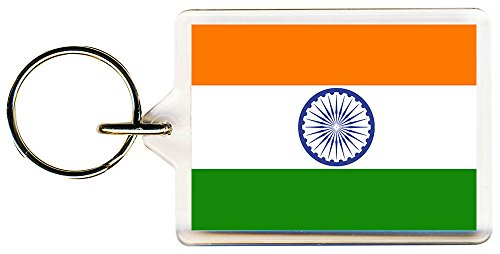 S8keMedia India World Flag Keyring 50mm x 35mm