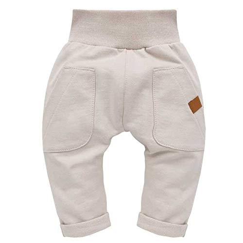 Pinokio - Nice Day - Baby Hose / 100% Baumwolle, beige Jogginghose, Haremshose Pumphose Schlupfhose- elastischer Bund, Unisex (86)