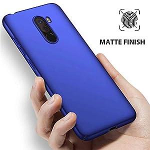 MUTOUREN Xiaomi POCOPHONE F1 Funda Ultra Delgado Lisa Rígida PC Carcasa Anti-Choque/Anti-Deslizante Duradero Sencillo Cover Case para Xiaomi POCOPHONE F1 - Azul